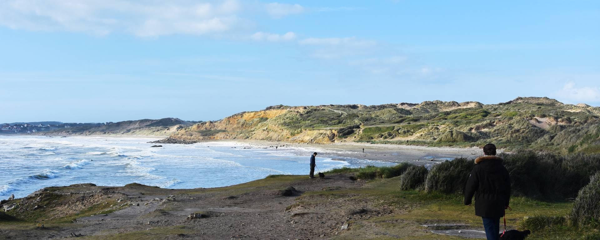 En route vers la plage Pointe aux Oies Wimereux