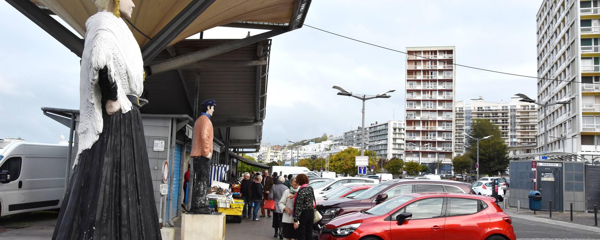 Les étals à poissons Boulogne-sur-Mer