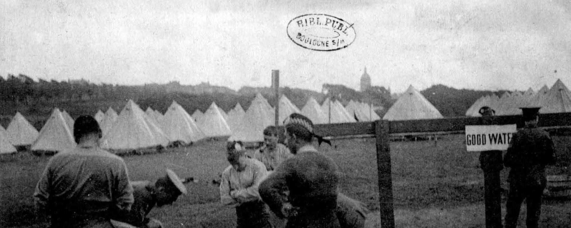 Première Guerre Mondiale : Camp anglais à Boulogne-sur-Mer