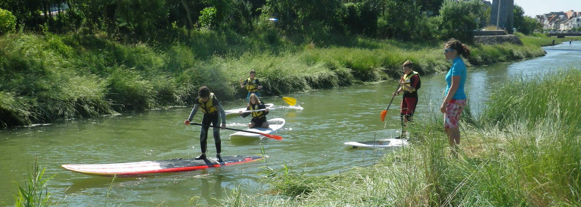 Paddle sur le Wimereux