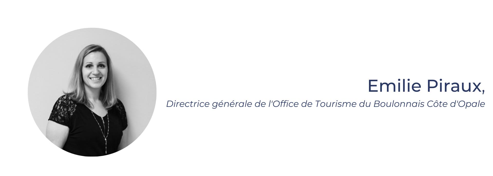 Emilie Piraux, directrice générale de l'Office de Tourisme du Boulonnais Côte d'Opale