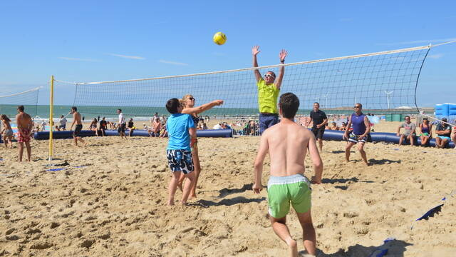 Beach volley plage de Le Portel