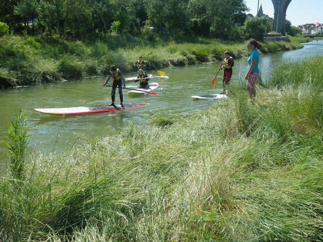 Kayak et Paddle en mer